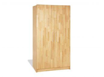 Купити Дитяча шафа Whity 2-дверна натурального кольору, зрощений бук, покриття олія (загальний вигляд)