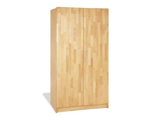 Купить Детский шкаф Whity 2-дверный натурального цвета, сращенный бук, покрытие масло (общий вид)