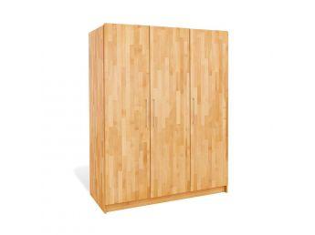 Купить Детский шкаф Whity 3-дверный натурального цвета, сращенный бук, покрытие масло (общий вид)