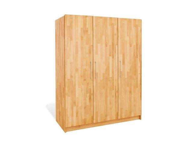 Купити Дитяча шафа Whity 3-дверна натурального кольору, зрощений бук, покриття олія (загальний вигляд)
