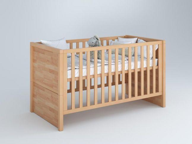 Купити Дитяче ліжечко трансформер Alpaka  матеріал - бук зрощений для новонароджених і немовлят (загальний вид)