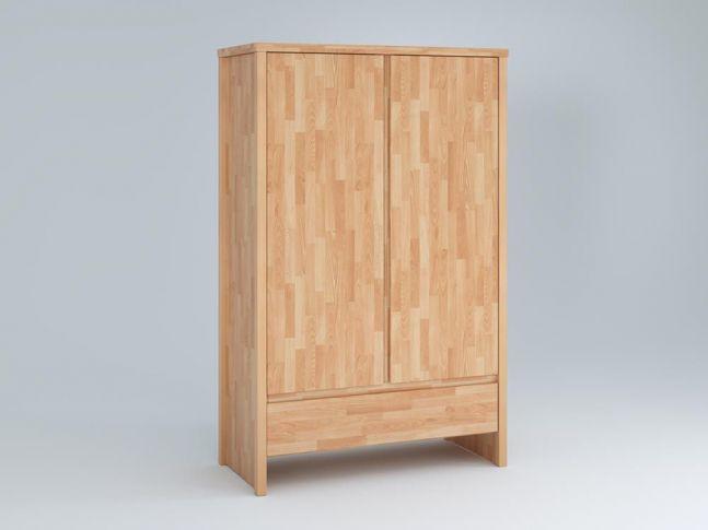 Купить Детский шкаф Alpaka 2-дверный натурального цвета, сращенный бук, покрытие масло