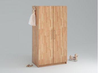 Купити Дитяча шафа Whity 2-дверна натурального кольору, зрощений бук, покриття олія