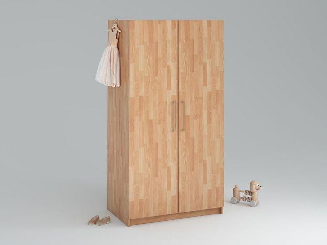 Купить Детский шкаф Whity 2-дверный натурального цвета, сращенный бук, покрытие масло