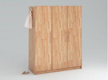Купить Детский шкаф Whity 3-дверный натурального цвета, сращенный бук, покрытие масло