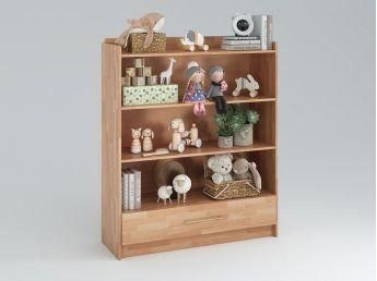 Купить Стеллаж Whity с ящиком для книг натурального цвета, срощенный бук, покрытие масло