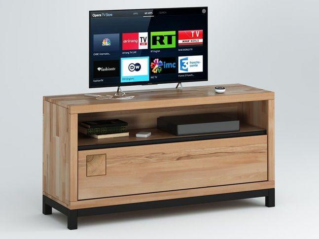 Купити ТВ-тумба Франкфурт I натурального кольору, матеріал - бук зрощений\цільний (загальний вигляд)
