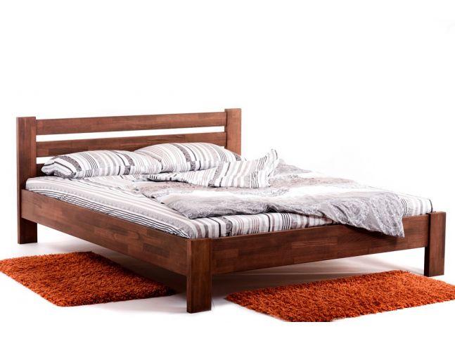 Ліжко Сільвана коричневого кольору, матеріал - зрощений бук (загальний вигляд).