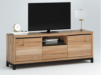 Купити ТВ-тумба Франкфурт II натурального кольору, матеріал - бук зрощений\цільний (загальний вигляд)