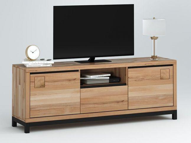Купить ТВ-тумба Франкфурт II натурального цвета, материал - бук сращенный\цельный (общий вид)