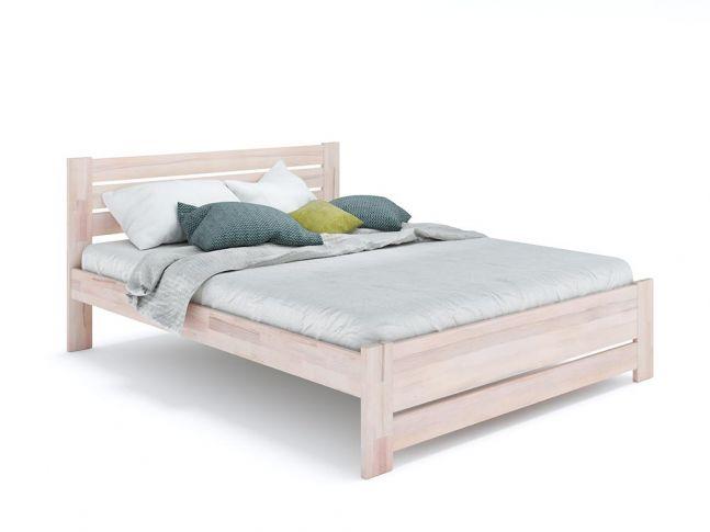 Ліжко Кароліна Еко бежевого кольору, матеріал - бук зрощений/цільний (загальний вигляд)