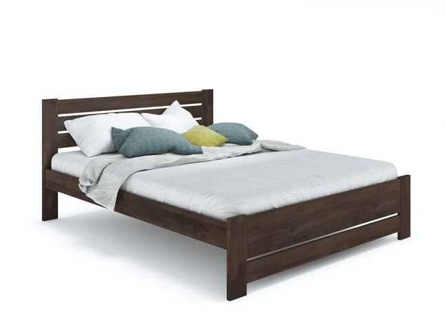 Ліжко Кароліна Еко кольору венге, матеріал - бук зрощений/цільний (загальний вигляд)