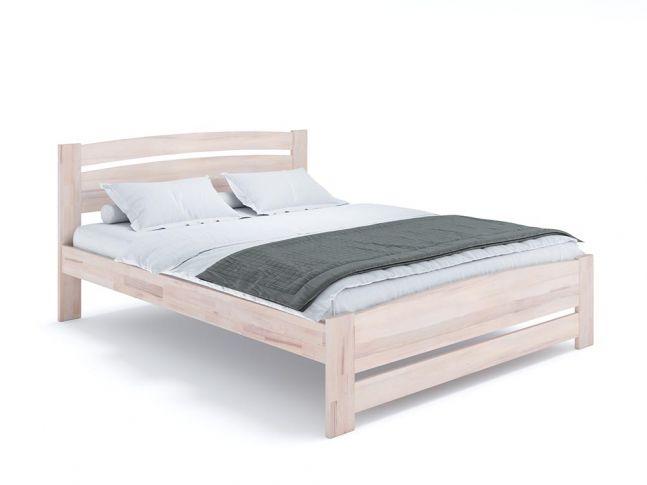 Ліжко Софія Еко бежевого кольору, матеріал - бук зрощений/цільний (загальний вигляд)