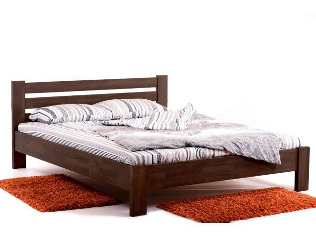Кровать Сильвана темно-коричневого цвета, материал - срощенный бук (общий вид).