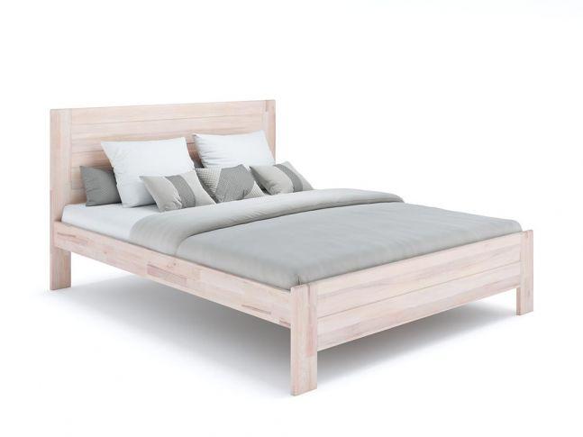 Ліжко Люкс бежевого кольору, матеріал - бук зрощений/цільний (загальний вигляд)