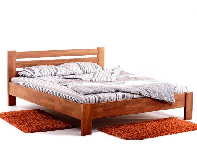 Кровать Сильвана светло-коричневого цвета, материал - срощенный бук (общий вид).