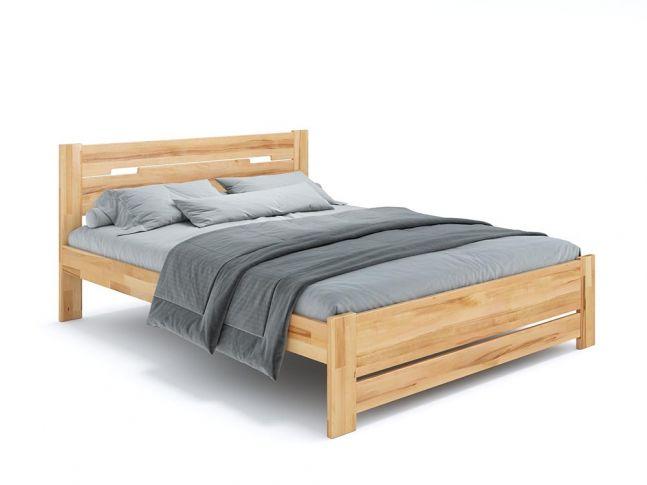 Ліжко Селена Еко натурального кольору, покриття лак, матеріал - бук зрощений/цільний (загальний вигляд)