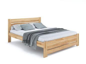 Купить Кровать Венеция Еко натурального цвета, материал - бук срощенный/цельный (общий вид фон белый)