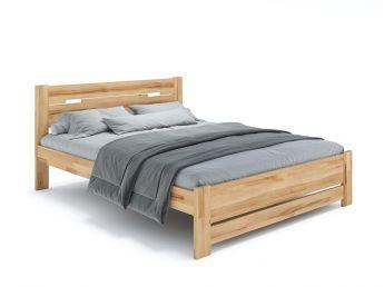 Кровать Селена Еко натурального цвета, материал - бук срощенный/цельный (общий вид фон белый)
