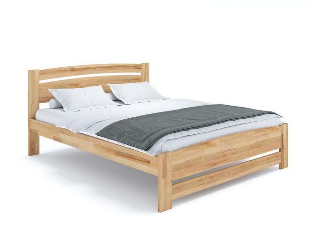 Купити Ліжко Софія Еко натурального кольору, матеріал - бук зрощений/цільний (загальний вигляд фон білий)