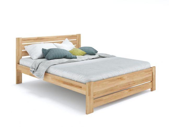 Купить Кровать Каролина Еко натурального цвета, материал - бук срощенный/цельный (общий вид фон белый)