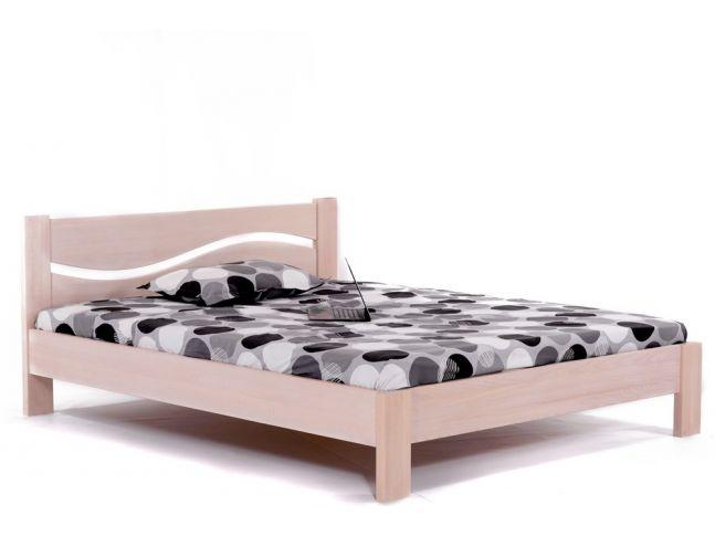 Кровать Венеция белого цвета, материал - цельный бук (общий вид).