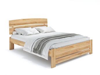 Купити Ліжко Жасмін Еко натурального кольору, матеріал - бук зрощений/цільний (загальний вигляд фон білий)
