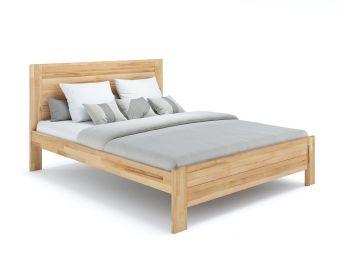 Купить Кровать Люкс Еко натурального цвета, материал - бук срощеный/цельный (общий вид фон белый)