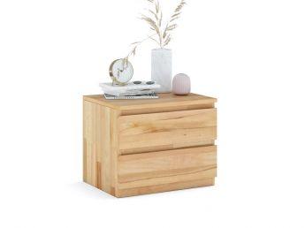 Купити Тумбочка приліжкова Кетрін Еко натурального кольору, матеріал - зрощений/цільний бук (загальний вигляд фон білий)