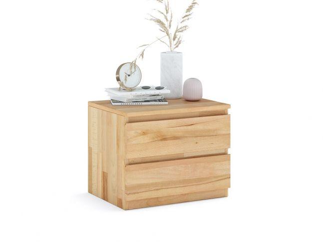 Купить Тумбочка прикроватная Кэтрин Еко натурального цвета, материал - срощенный/цельный бук (общий вид фон белый)