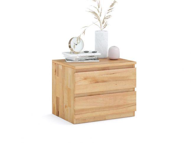 Купити Тумбочка приліжкова Кетрін Еко натурального кольору, покриття лак, матеріал - зрощений/цільний бук (загальний вигляд)