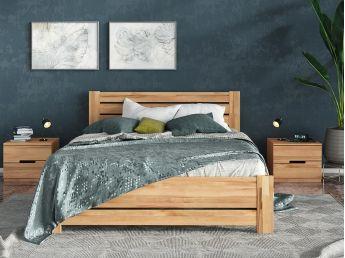 Купити Спальню Кароліна Еко натурального кольору, матеріал зрощений/цільний бук (в інтер'єрі загальний вид)