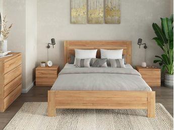 Купить Спальню Каролину Еко натурального цвета, материал - сращенный/цельный бук (в интерьере общий вид)