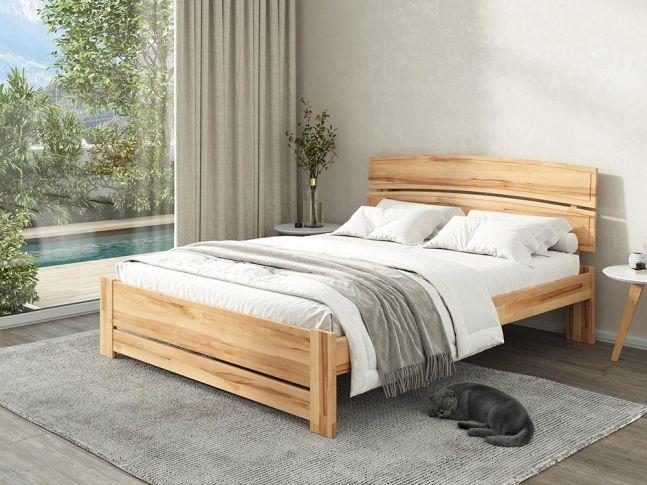 Купити Спальню Жасмін Еко натурального кольору, матеріал зрощений/цільний бук (в інтер'єрі загальний вид)