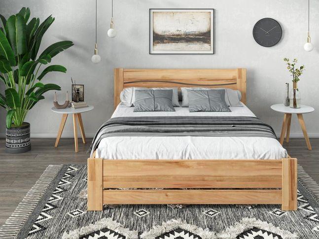 Купити Спальню Венеція Еко натурального кольору, матеріал зрощений/цільний бук (в інтер'єрі загальний вид)