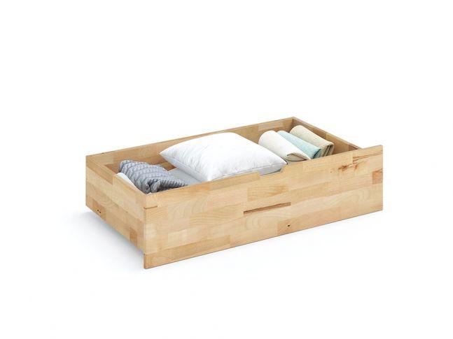 Купити Шухляда під ліжко Еко ширина 990, натурального кольору, матеріал - бук зрощений (загальний вигляд)