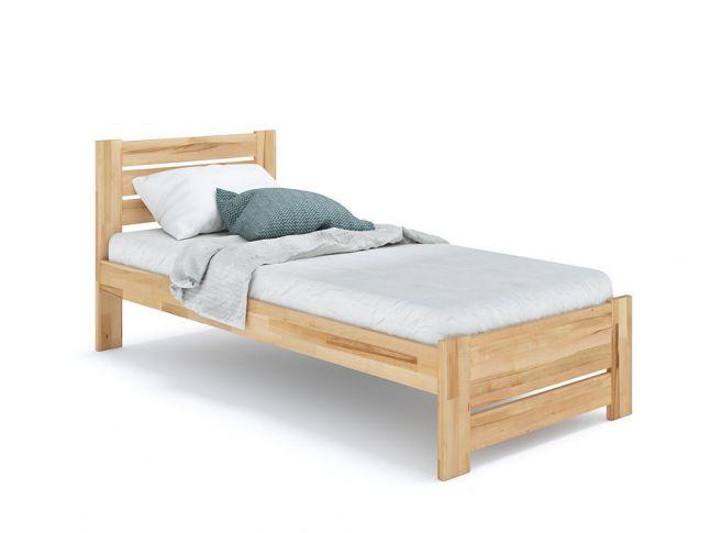 Купить Кровать Каролина Еко 90 х 200 см натурального цвета, материал - бук срощенный/цельный (общий вид фон белый)