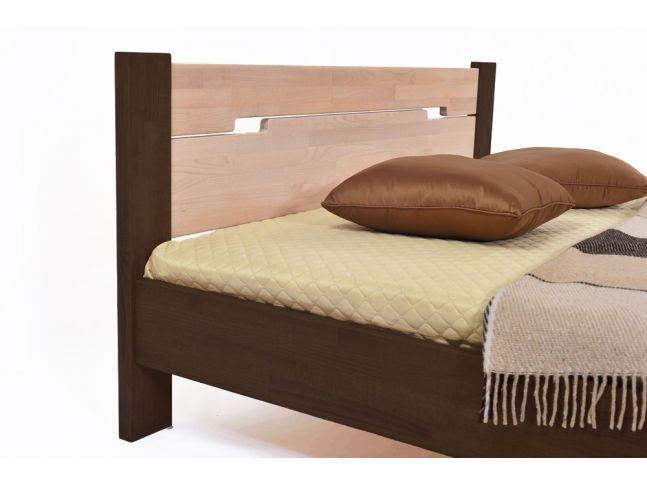 Ліжко Селена темно-коричневого і білого кольорів, матеріал - зрощений бук (вигляд спинки)