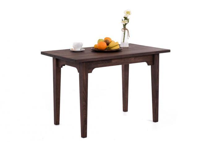 Стол Оливер темно-коричневого цвета, материал - срощенный бук (общий вид).
