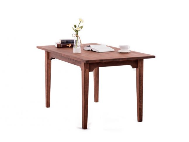 Стол Оливер коричневого цвета, материал - срощенный бук (общий вид).
