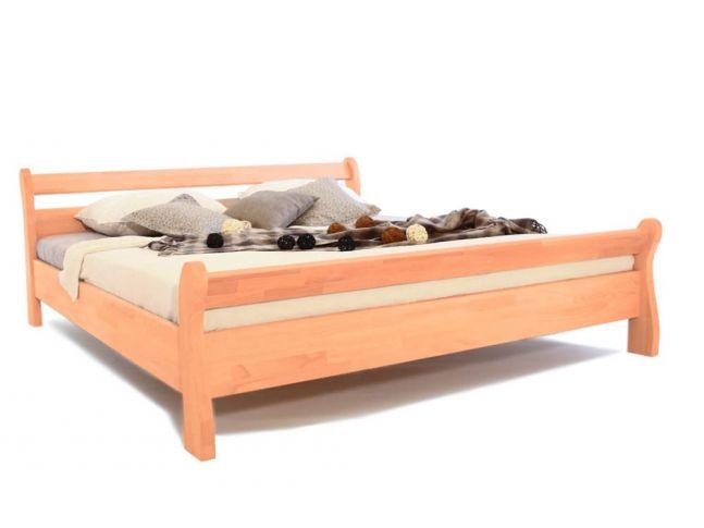 Ліжко Міледа натурального кольору, матеріал - бук зрощений (загальний вигляд).