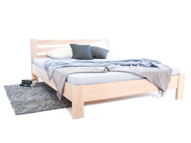 Ліжко Сільвана білого кольору, матеріал - зрощений бук (загальний вигляд).