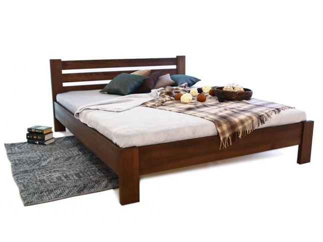 Ліжко Сільвана коричневого кольору, матеріал - цільний бук (загальний вигляд).