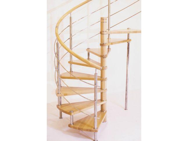 Винтовая лестница Спира Метал 010 на больцах (общий вид).