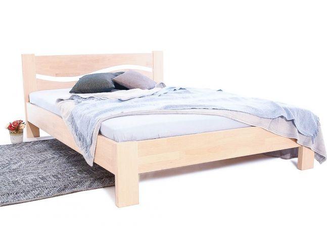 Кровать Венеция белого цвета, материал - срощенный бук (общий вид).