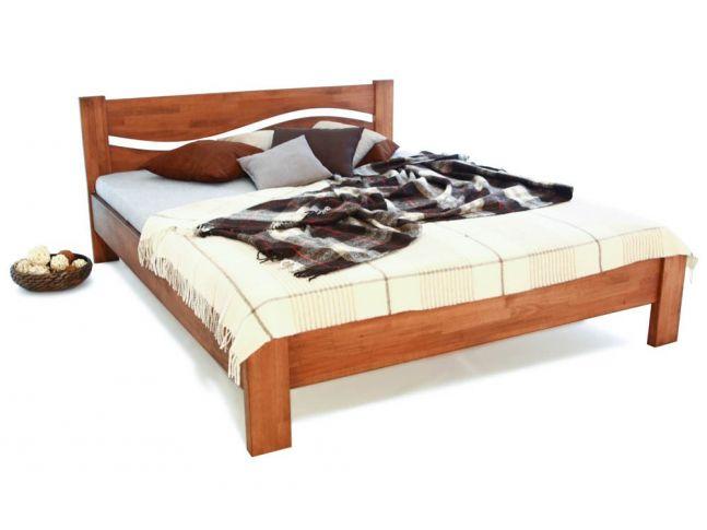 Ліжко Венеція світло-коричневого кольору, матеріал - зрощений бук (загальний вигляд)