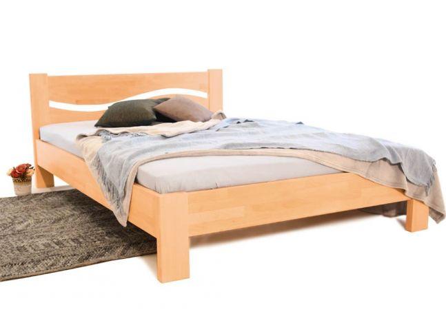Кровать Венеция натурального цвета, материал - срощенный бук (общий вид).