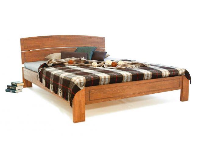 Ліжко Жасмін світло-коричневого кольору, матеріал - зрощений бук (загальний вигляд).