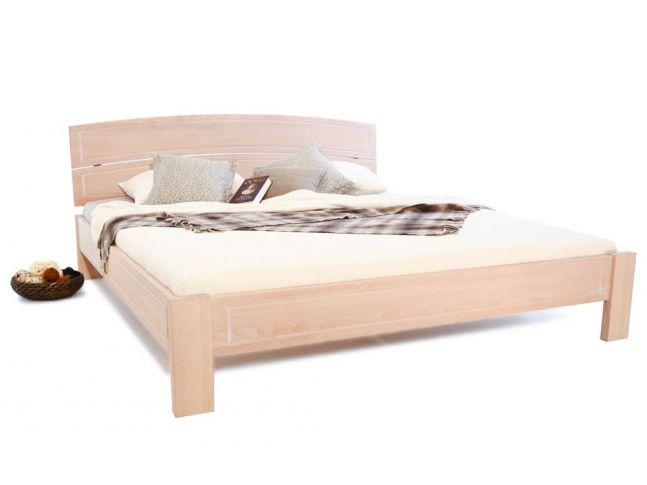 Ліжко Жасмін білого кольору, матеріал - цільний бук (загальний вигляд).