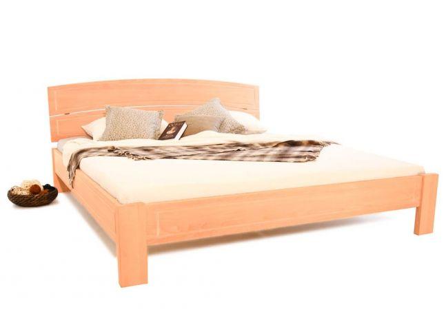 Ліжко Жасмін натурального кольору, матеріал - цільний бук (загальний вигляд).